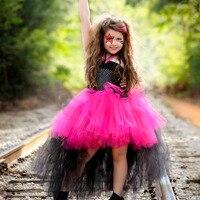 Rockstar Queen Girls Dress Christmas Halloween Costume Little Girl Tulle Tutu Dress Funking Birthday Party Dress