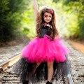 Rockstar Queen Girls Dress Christmas Halloween Costume Little Girl Tulle Tutu Dress Funking Birthday Party Dress TS083