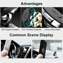 Baseus Small Ears Series Magnetic Suction Bracket For Smart Phone Car Holder (Stand Holder/Air Outlet/Flat Type)