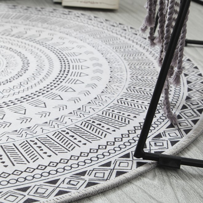 NEW Ins Nordic Round Carpet Computer Chair Floor Mat Kids Play Tent Rug Home Entrance/Hallway Doormat Cloakroom Rugs And Carpets