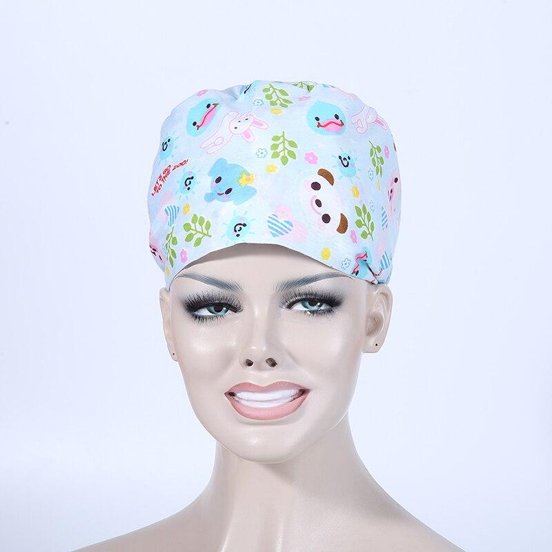 Unisex Hospital Adjustable Medical Caps 100% Cotton Surgical Caps Scrub Lab Clinic Dental Operation Hat For Doctor Nurse E1641