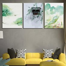 Watercolor Nordic A4 Arts Poster Printed Green Lotus Leaf Cottage Painting Living Room Home Decor Canvas Abstract Wall Pictures(China)