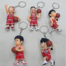 SLAM DUNK TOYS PENDANT ANIME KEYCHAIN CARTOON TOYS BASKETBALL 5 PCS