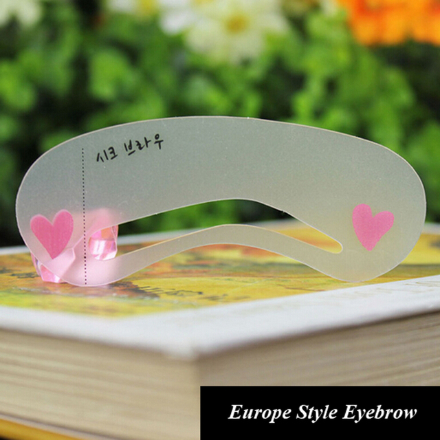 3 Pieces/pack Durable Eyebrow Stencil Eyes Makeup Clear Eye Brow Drawing Template Assistant Card Brow Shaping Model for Beginner 2