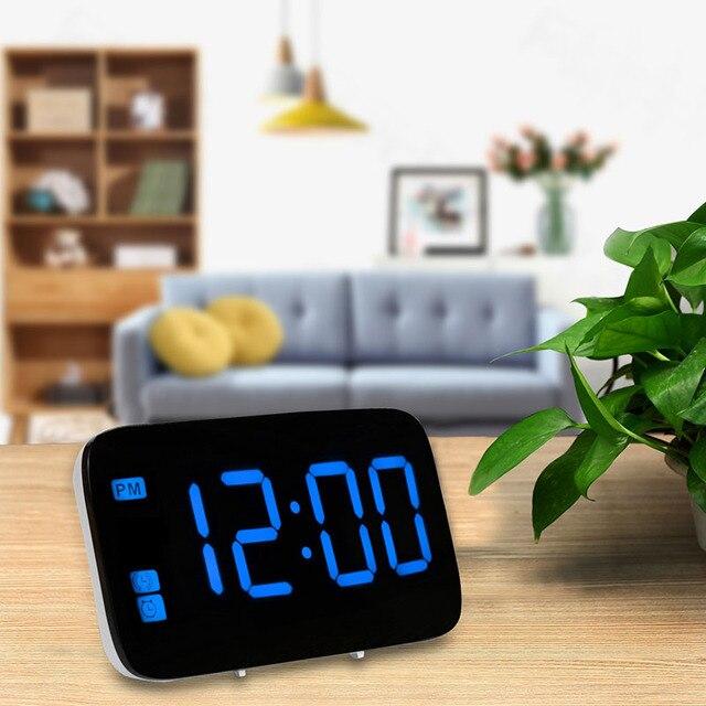 Kreative Schreibtisch Digitale Wanduhr LED Großen Bildschirm USB Stille  Wecker Spiegel Tisch Horloge Wohnzimmer Schlafzimmer Einfache Stilvolle