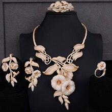 Godki luxo manhã glória 4 pçs conjunto de jóias africanas para o casamento feminino zircon cristal cz indiano africano conjunto de jóias de noiva