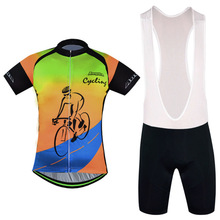 MTB Bike Clothing Ropa Ciclismo Cycling Clothing Rock Racing Bicycle Clothes 2016 Man's GEL Breathabkle Cycling Jerseys Sets