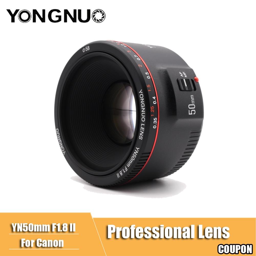 YN50mm F1.8 II Grande Ouverture Auto lentille focale YONGNUO pour Canon Bokeh Effet Caméra objectif pour Canon EOS 70D 5D2 5D3 600D DSLR