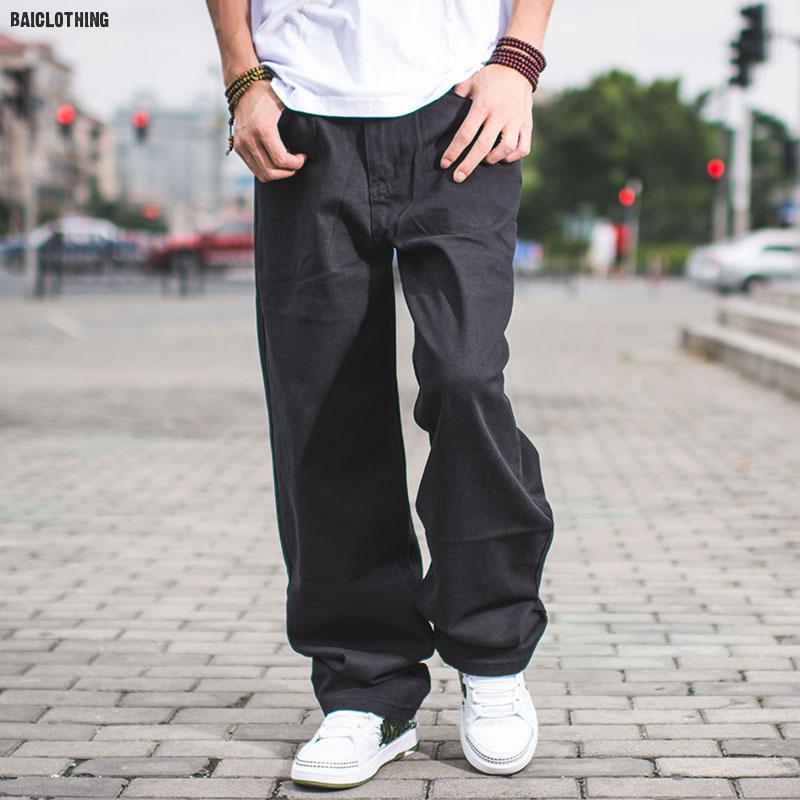 Losse Hiphop Baggy Jeans Voor Grote Mannen Slim Straight Fit Jongens Jeugd Skateboard Hiphop Jeans Mannen Large size6XL 7XL 8XL