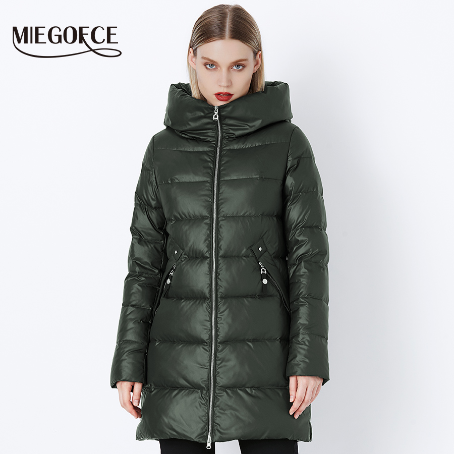 MIEGOFCE 2019 Winter Coat Women s Parka With a Hood Jackets And Parka Women s Military