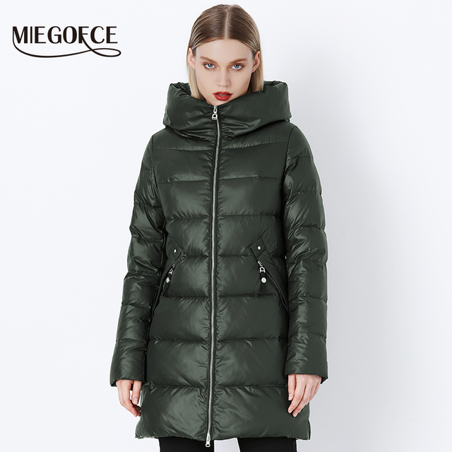 MIEGOFCE 2018 Winter Coat Women Parka With a Hood Jackets And Parks Women's Military Coat Hat Winter Fashion Coat Jacket
