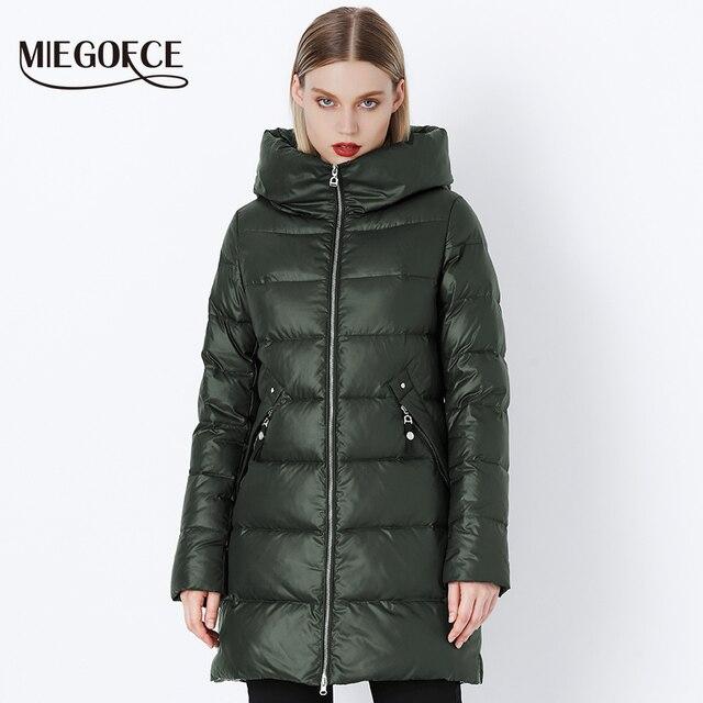 MIEGOFCE 2018 Новая зимняя коллекция женская парка женское зимнее пальто с капюшоном утепленный зимний женский пуховик