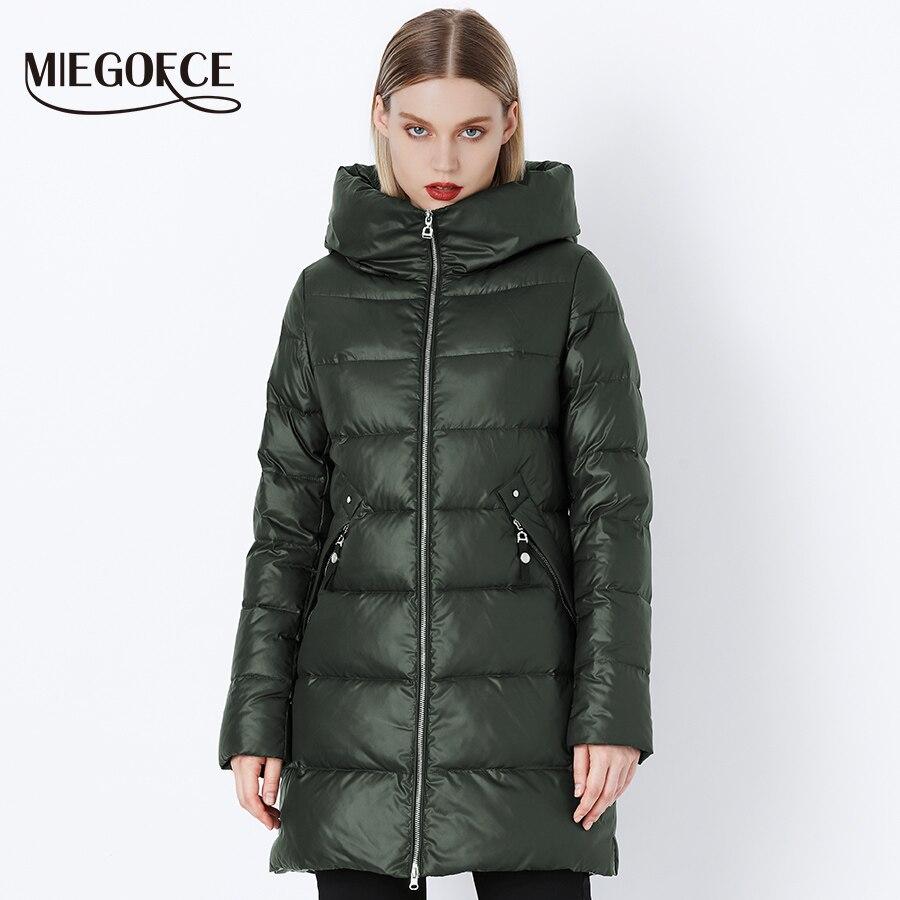 MIEGOFCE 2019 Winter Coat Women's   Parka   With a Hood Jackets And   Parka   Women's Military Coat Hat New Winter Fashion Coat Jacket