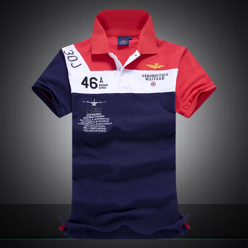244c8b3ef92 High quality summer style Australian RETAIL AERONAUTICA MILITARE Men s POLO  Shirt Air Force One Embroidered Men s Brand Clothing-in Polo from Men s  Clothing ...