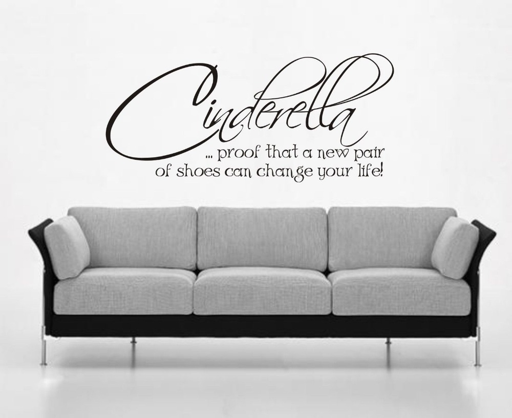 Wall Art Stickers Quotes popular cinderella quotes-buy cheap cinderella quotes lots from