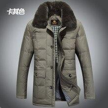 2015 New Hot Thicken Warm Men Down jacket Coat Parkas Outerwear Cold Long Luxury Business Plus Size 4XXXXL Rabbit Fur collar