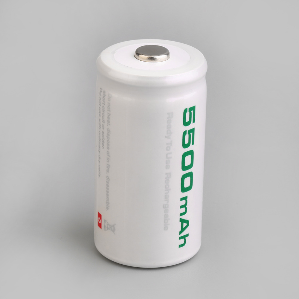Soshine High quality C size 5500 mAh high capacity nickel hydride metal (Ni-MH) rechargeable batteries 2Pcs