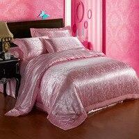 home textile wholesale ! pink color Jacquard bedding set 4pcs bedssheet bed princess bedclothes!