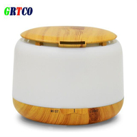 GRTCO 300ml Aroma Diffuser Aromatherapy Wood Grain Essential Oil Diffuser Ultrasonic Cool Mist Humidifier For Office
