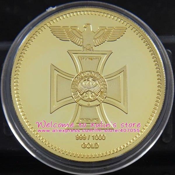 5 шт./партия, позолоченный райхсбанк, 1871 сувенирная монета