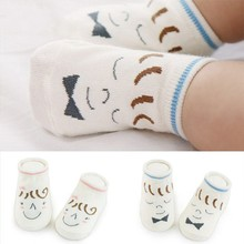 0 to 4 years old New ship Liu Hainan girl cartoon children boat socks baby infant anti-slip socks(China)