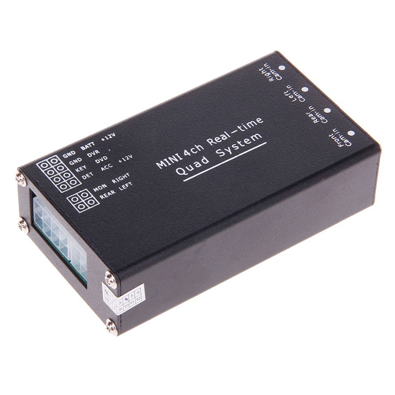 Kereta Pelbagai Kamera Image Switch Control Box 2/4 Kamera untuk Sistem Kamera Parking Depan / Belakang / Kiri / Kanan / Kanan Sokongan video DVR