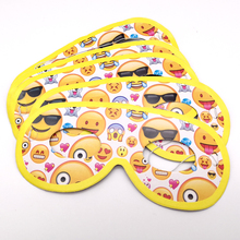 Happy Birthday Party Kids Favors Emoji Theme Decoration Eye Cover Baby Shower Funny Paperboard Masks Events Supplies 10PCS/PACK