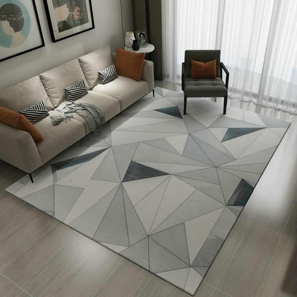Alfombras suaves de estilo nórdico a la moda para sala de estar, alfombras de dormitorio para niños, alfombras caseras en 3D, alfombras para el suelo, alfombrillas para el área