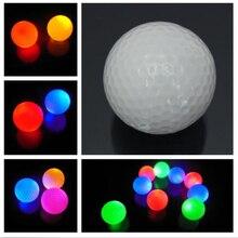 1 шт., новинка,, светильник, мигающий Ночной светильник, светящийся флуоресцентный шар для гольфа