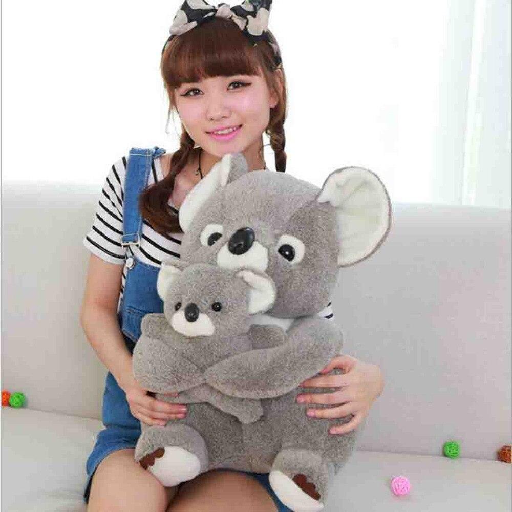 Сидя Мишка коала плюшевые чучело Игрушки для маленьких детей куклы Мягкие Серый Симпатичные