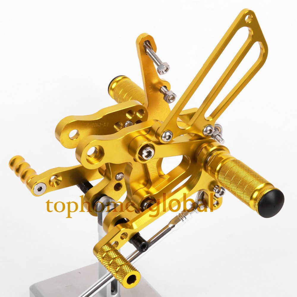 CNC Motorcycle Parts  Rearsets Foot Pegs Rear Set For HONDA CBR400 NC29 1993-1994 1995 1996 1997 1998 1999 Golden Color