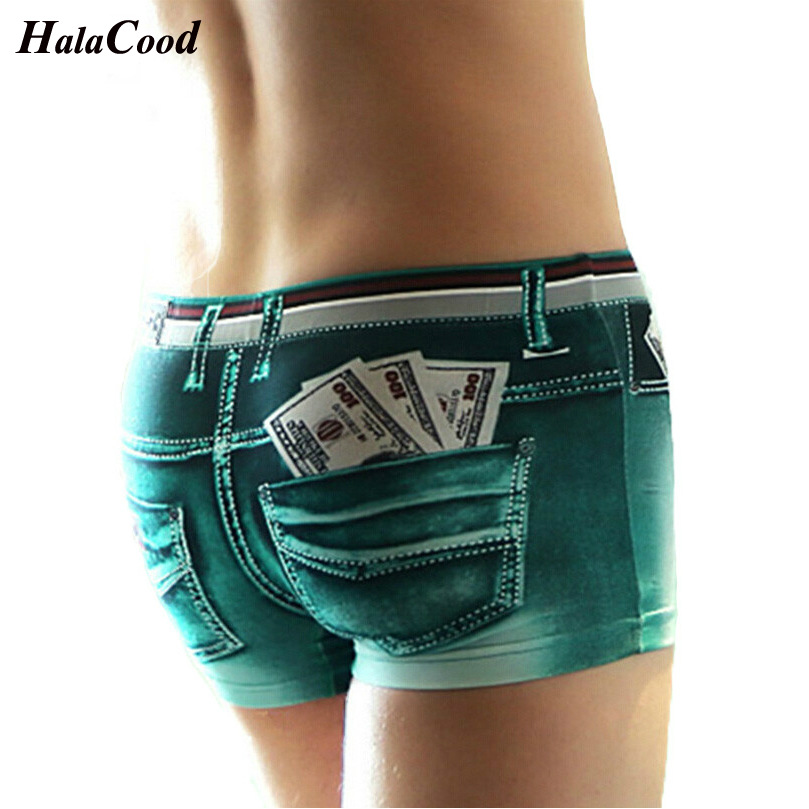 Hot Men High Quality Panties Fashion Sexy Men's Boxers Shorts Trunks Brand Mr Cotton Underwear Male Casual 3D Print Underpants(China)