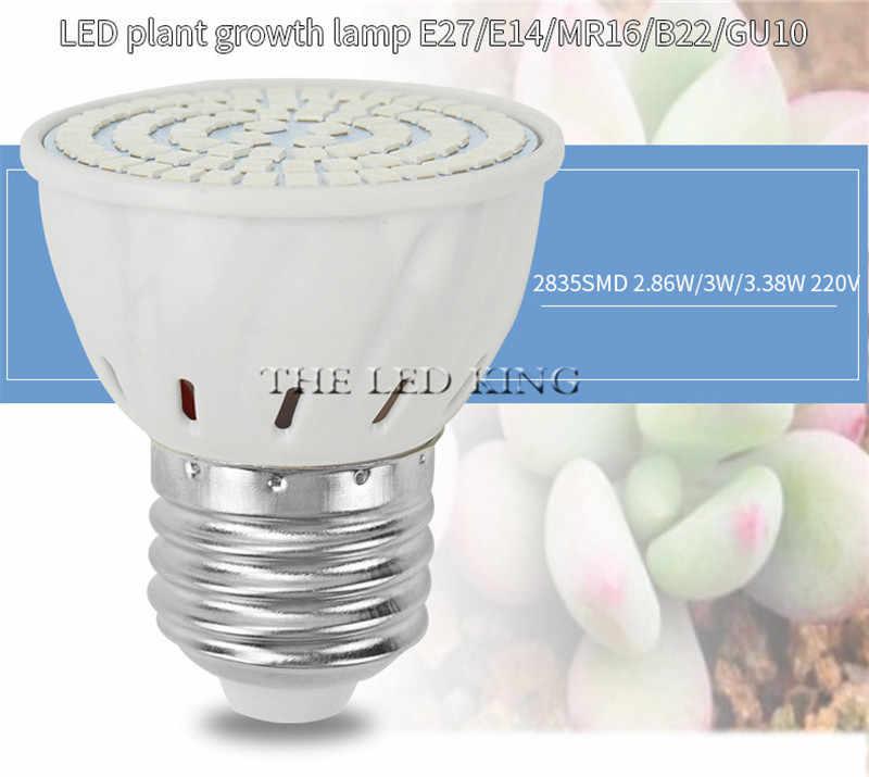 E27 Фито лампа светодиодный Grow Light полный спектр светодиодный освещение для гидропонной установки Fitolampy для рассада овощей тепличных растений освещение