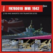 1/700 Proportion The British Royal Navy HMS warspite   Assembly model Assemble Toys Model