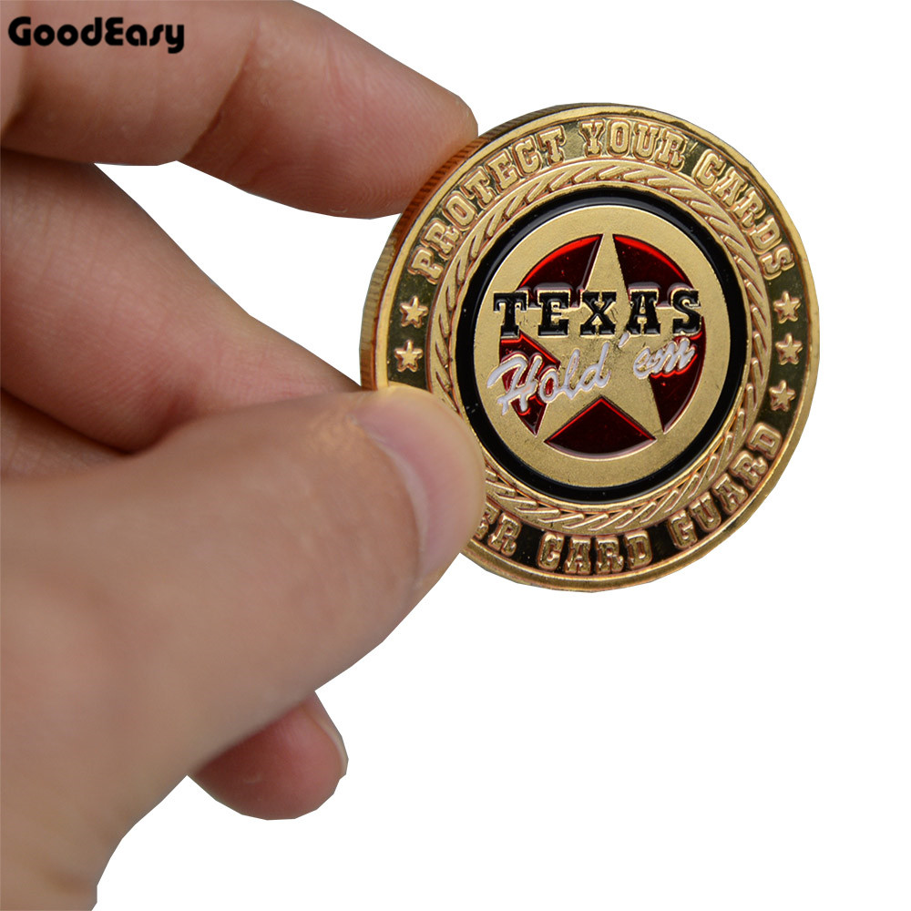 1 pc Poker Card Guard Protector Metal Token Coin with Plastic Cover Metal Poker Chip set Pokerstars Texas Holdem Dealer Button