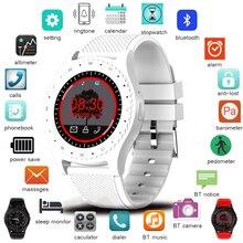 LIGE Smart Watch Women SIM TF Push Message Camera Bluetooth Connectivity Android Phone Sports pedometer Digital smart watch+Box