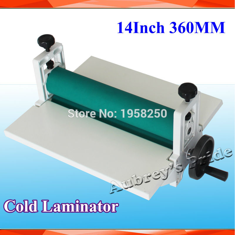 New 14 350mm Manual Laminating Machine Photo Vinyl Protect Rubber Cold Mounting Laminator