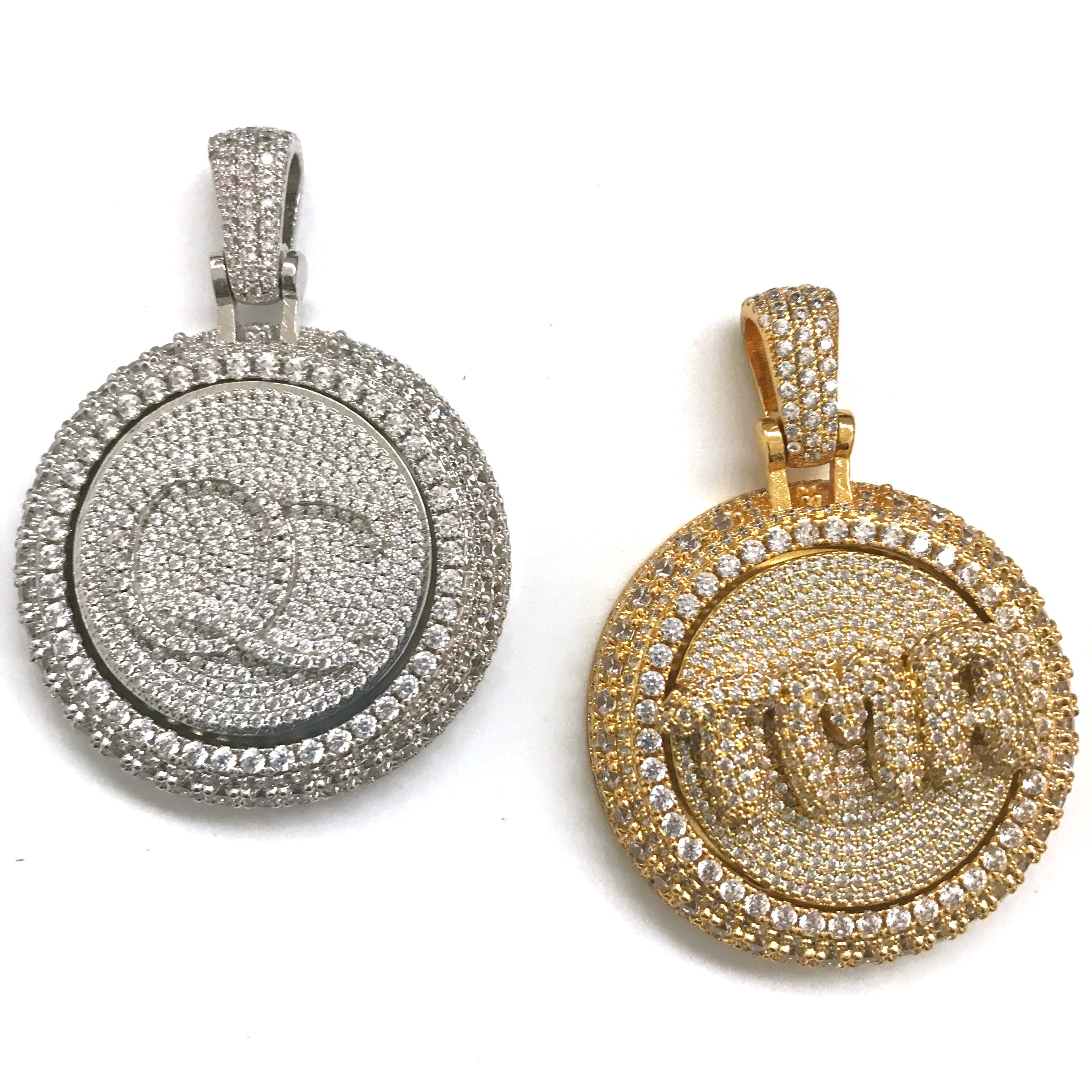 Image 3 - Personal custom spinning pendant gold plating pendant-in Charms from Jewelry & Accessories