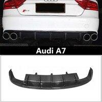 Auto Carbon Fiber Rear Lip Spoiler For Audi A7 2012.2013.2014.2015.2016.2017 High Quality Bumper Diffuser Car Accessories