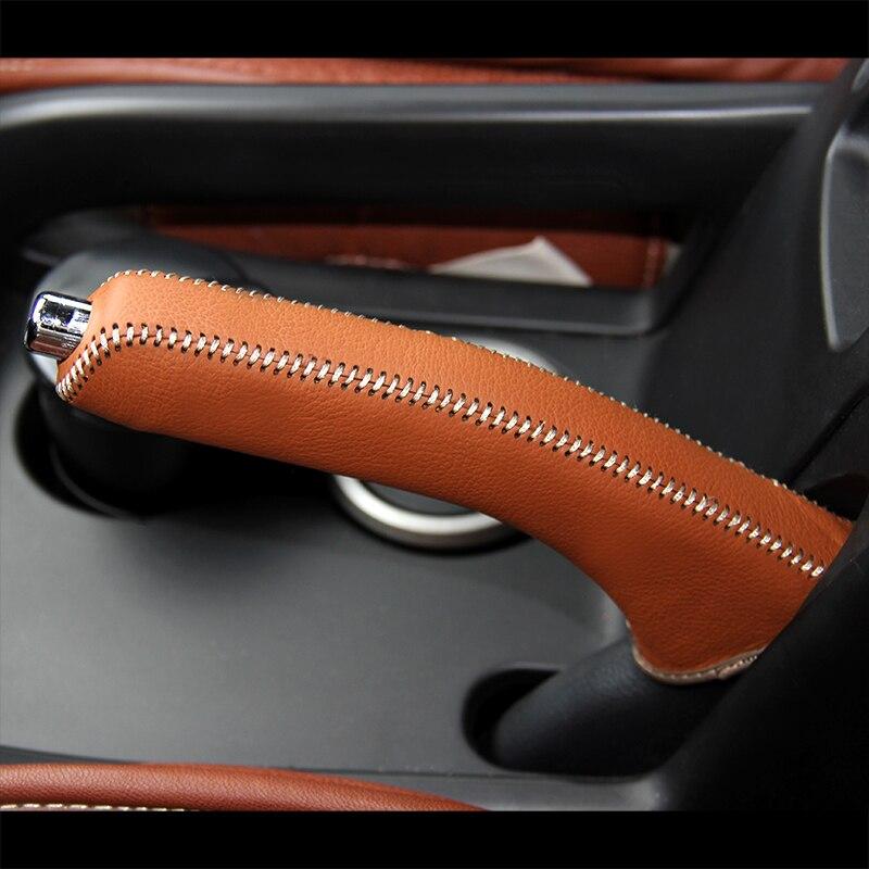 LS AUTO Top Genuine Leather Case For Handbrake For Kia Sportag Handbrake Cover Interior Auto Cover Handbrake Case For Handbrake