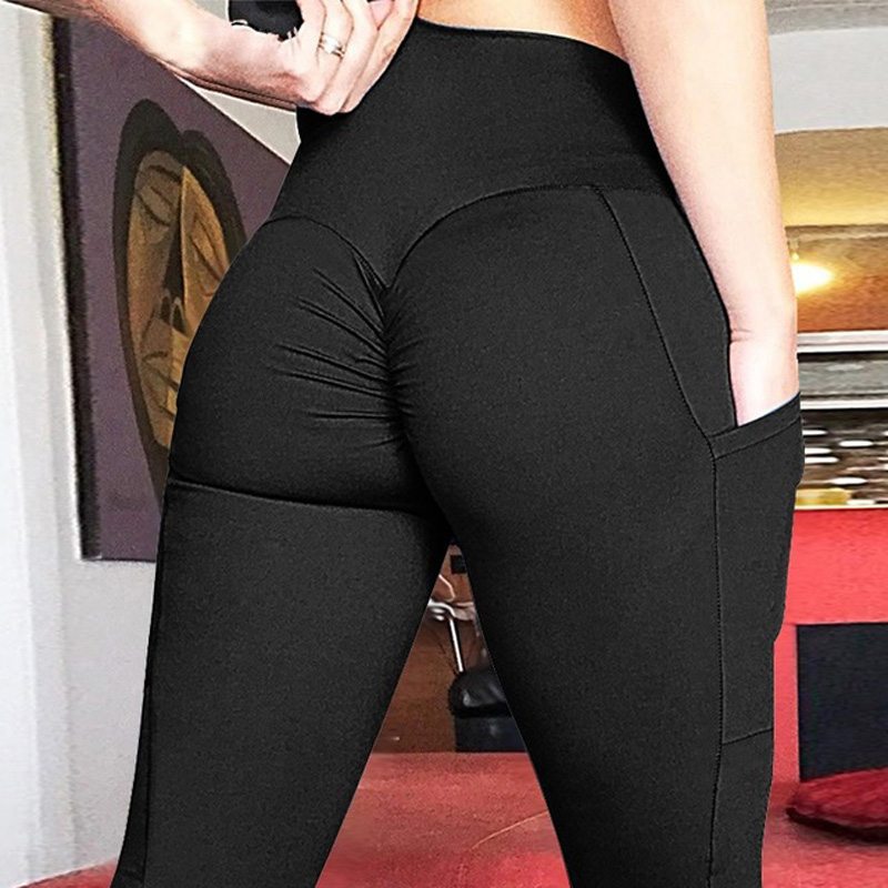 2019 New Bumps Style   Leggings   Put Hip Fold Elastic High Waist   Legging   Breathable Slim Pants