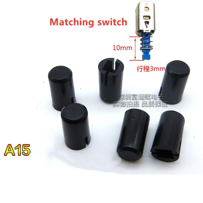 100 шт Прямо ключ переключатель квадратная голова нажмите шапка черная A15 диаметр 5 мм * 8,85 мм высокая внутренняя отверстие 3 мм × 2,7 мм|Крышки переключателей|   | АлиЭкспресс