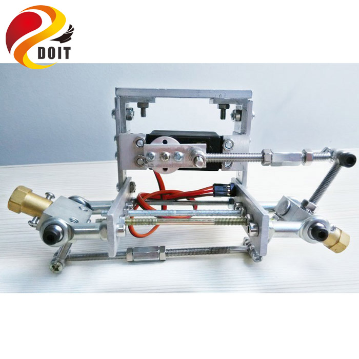 Original DOIT Metal Chassis Frame, Steering Engine Steering Robot Car Chassis , Obstacle Avoidance , Velocity ,Universal Wheel 2 wheel drive robot chassis kit 1 deck