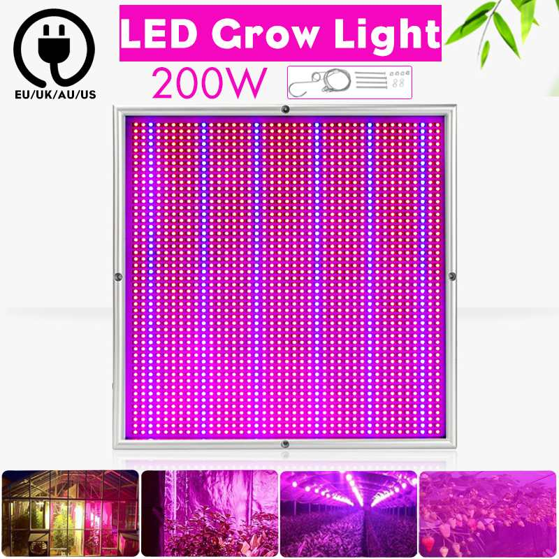 200W Grow Lamps LED Grow Light Full Spectrum Plant Lighting Fitolampy For Indoor Greenhouse Plants Flowers Seedling Cultivation200W Grow Lamps LED Grow Light Full Spectrum Plant Lighting Fitolampy For Indoor Greenhouse Plants Flowers Seedling Cultivation