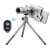 Hd teleobjetivo zoom óptico de 12x telescopio con clip de sostenedor del trípode control remoto bluetooth obturador de la cámara de lentes para el iphone