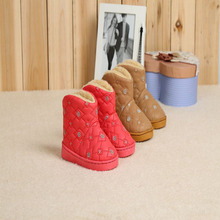 2016 Winter Children Boots Thick Warm Shoes Cotton-Padded Suede Buckle Boys Girls Boots Boys Snow Boots Kids Shoes