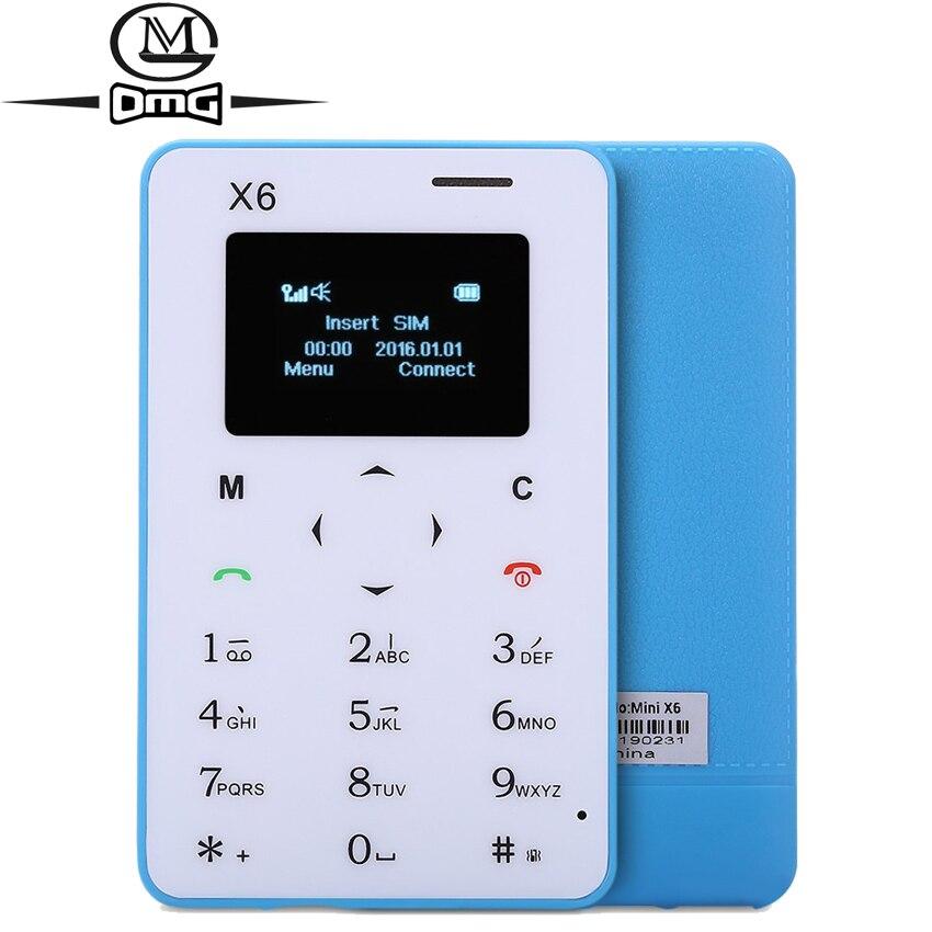 Цена за Оригинал AIEK X6 Русский мини карты мобильного телефона Ультра Тонкий Карманный Low Radiation AEKU M5 PK Разблокировки сотовых телефонов