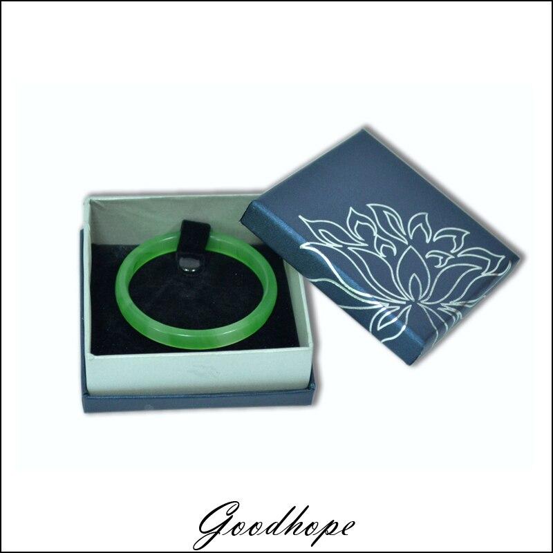 Wholesale Jewelry Boxes 9*9*3.5cm 12 pcs/lot Bracelet Box Bule Gift Boxes Black Velvet Bangle Anklet Boxes for Trinket Organizer