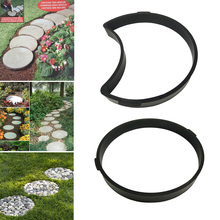 2018 Garden DIY Plastic Mold Path Pavement Model Concrete Stepping Stone Cement Brick Maker DC112