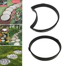 2018 Garden DIY Plastic Mold Path Pavement Model Concrete Stepping Stone Cement Brick Maker DC112